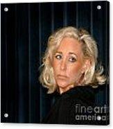 Blond Woman Sad Acrylic Print
