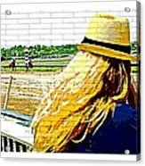 Blonde At Racetrack Acrylic Print