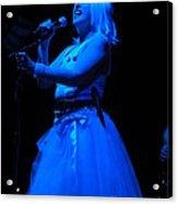 Blondie Blue Acrylic Print