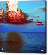 Blood Red Clouds Acrylic Print