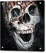 Bloody Skull Acrylic Print by Joana Kruse