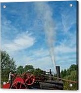 Blowing Off A Little Steam Acrylic Print