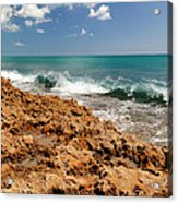 Blowing Rocks Jupiter Island Florida Acrylic Print by Michelle Wiarda
