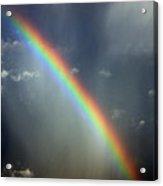 Blue A320 Over The Rainbow Acrylic Print