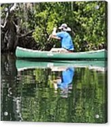Blue Amongst The Greens - Canoeing On The St. Marks Acrylic Print
