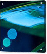 Blue And Green Abstract Acrylic Print by Dana Kern