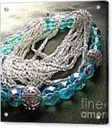 Blue And Silver Bead Bracelet Acrylic Print