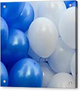 Blue And White Balloons  Acrylic Print