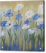 Blue And White Flora Acrylic Print