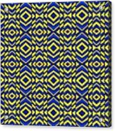 Blue And Yellow Chevron Pattern Acrylic Print