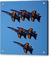 Blue Angels Delta Acrylic Print