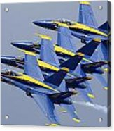 Blue Angels Four-ship Echelon Naf El Centro February 16 2012 Acrylic Print