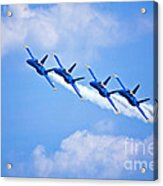 Blue Angels On Flyby Acrylic Print