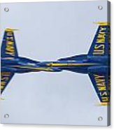 Blue Angels Rolling Opposing Pass Naf El Centro February 16 2012 Acrylic Print