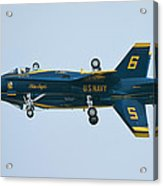 Blue Angels Solo Mirror Acrylic Print