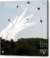 Blue Angels Star Burst Acrylic Print