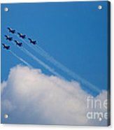 Blue Angels Up And Away Acrylic Print