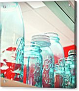Blue Ball Canning Jars Acrylic Print