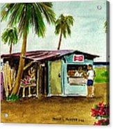 Blue Beach Shack Los Pinones Puerto Rico Acrylic Print