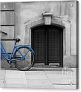 Blue Bicycle Acrylic Print