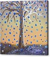 Blue-blossomed Wishing Tree Acrylic Print