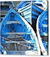 Blue Boats Acrylic Print