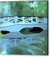 Blue Bridge in Magnolia Acrylic Print