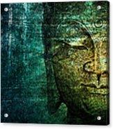 Blue Buddha Acrylic Print