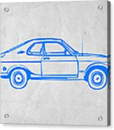 Blue Car Acrylic Print