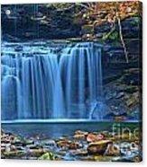 Blue Cascade Falls Acrylic Print
