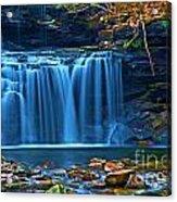 Blue Cascades Acrylic Print