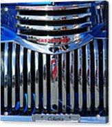 Blue Chevy Pick-up Grill Acrylic Print