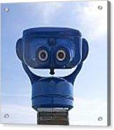 Blue Coin-operated Binoculars Acrylic Print