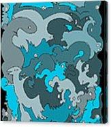 Blue Creatures Acrylic Print by Barbara Marcus