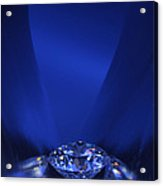 Blue Diamond In Blue Light Acrylic Print by Atiketta Sangasaeng