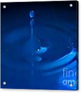 Blue Drops Acrylic Print
