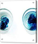 Blue Dye In Water Acrylic Print