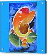 Blue Elephant Abstraction Acrylic Print