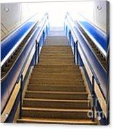 Blue Escalators Acrylic Print