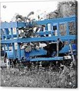 Blue Farm Wagon Acrylic Print