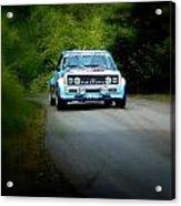 Blue Fiat Abarth Acrylic Print