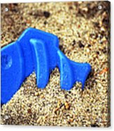 Blue Fish Swims In Sand Sea Acrylic Print