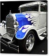 Blue Flames Acrylic Print