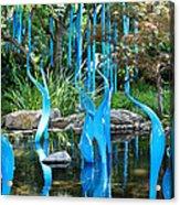 Blue Flamingos  Acrylic Print