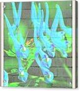 Blue Flower Abstract Acrylic Print