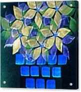 Blue Flower Pot Acrylic Print