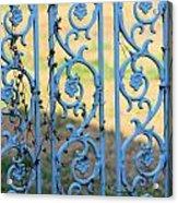 Blue Gate Swirls Acrylic Print