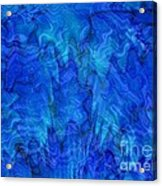 Blue Glass - Abstract Art Acrylic Print by Carol Groenen
