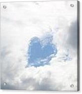 Blue Heart In Sky Acrylic Print