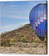 Blue Hot Air Balloon On The Desert  Acrylic Print